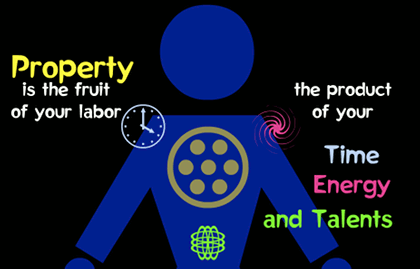 ''Property is the fruit of your labor, the product of your Time, Energy, and Talents.''